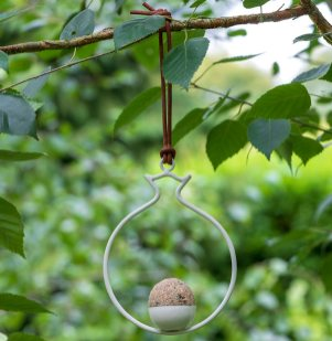 Sophie Conran Collection, Pomegranate Fat Ball Bird Feeder. Picture; Burgon & Ball