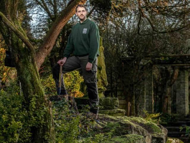 Head gardener Phil Cormie. Picture; Charlotte Graham