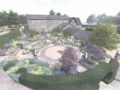 Sunken Garden Overview. Picture; Perennial