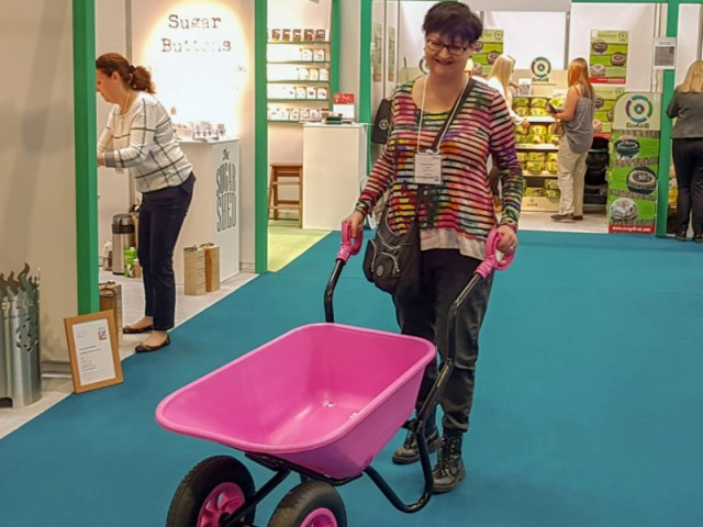 I won't be doing this in September... me with iTip Wheelbarrows at 2019's Glee