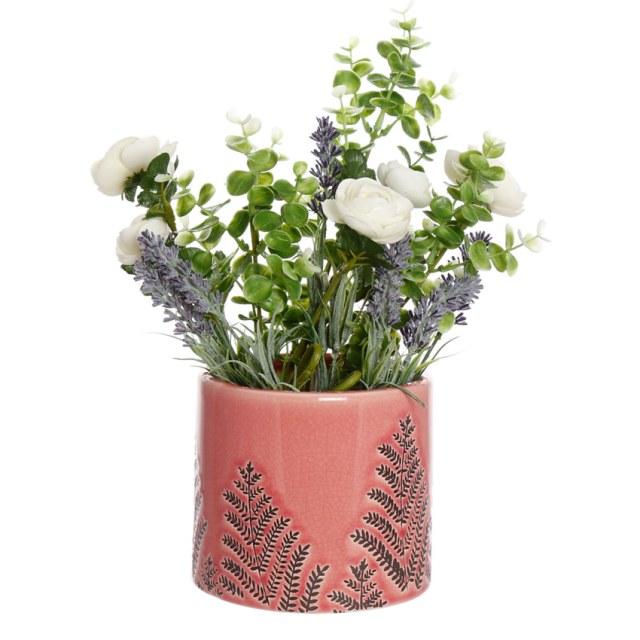 Blush Pink Fern Ceramic Planter. Picture; Dibor