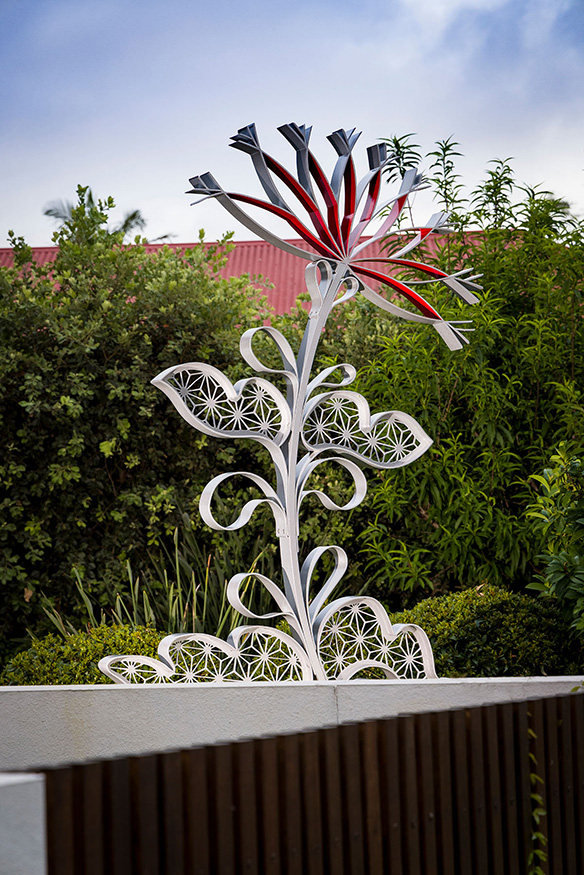 Mallow - Sculptural commission for Satou House, private residence. Image by Peter Waddington Photographer