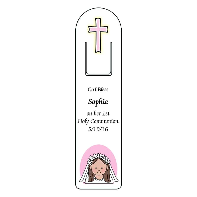 Personalized First Communion or Confirmation Bookmark Favor