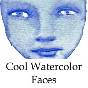 cool watercolor faces online class by mandy van goeije