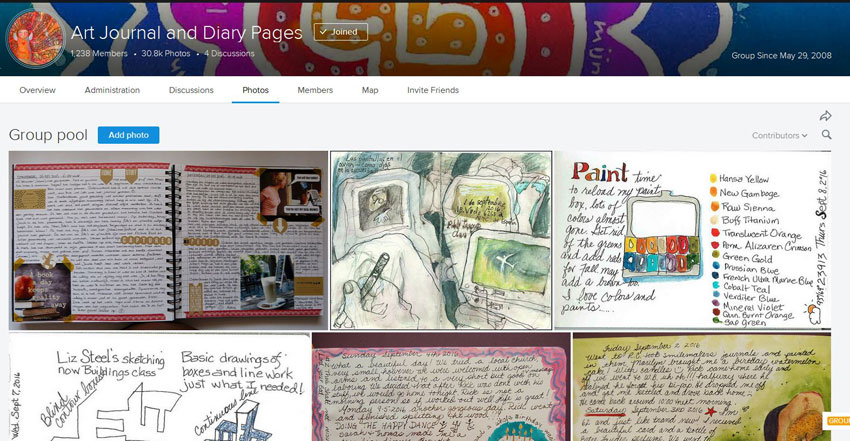 flickr group art journal and diary pages homepage in which mandy finds inspiration