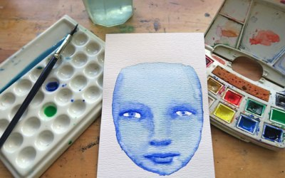 Cool Watercolor Faces, a NEW online workshop NOW OPEN!!!