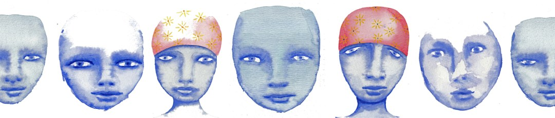 cool watercolor faces online workshop banner mandy van goeije