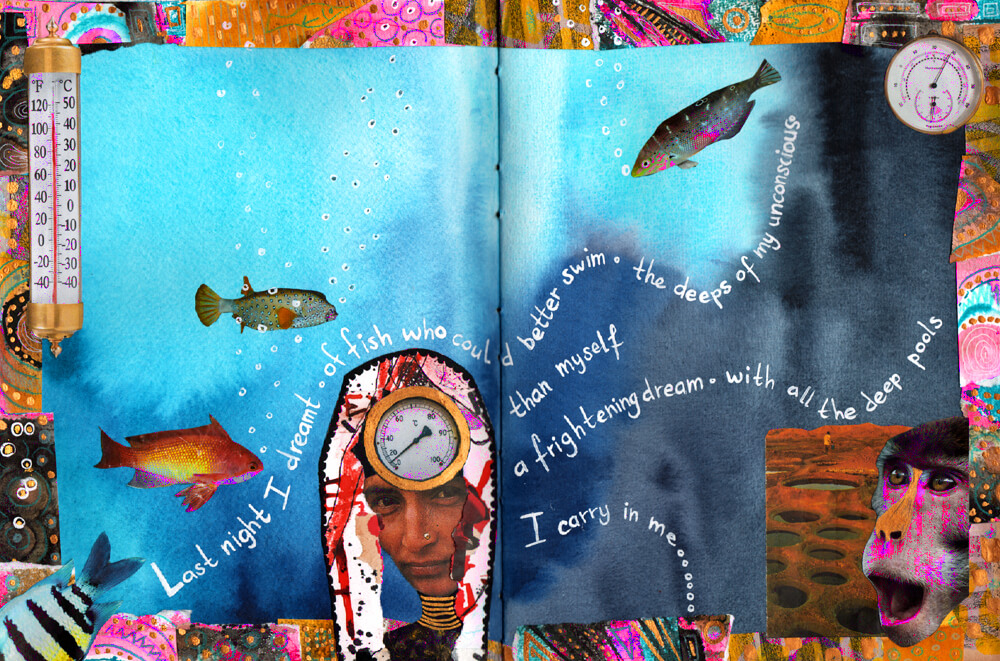 Fish - Art Journal page by Mandy van Goeije