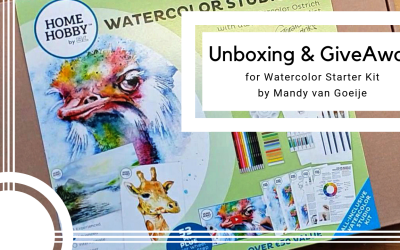 Watercolor Starter Kit GiveAway and unboxing