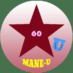 mane-u badge burgundy star