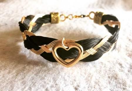 Entwined Heart Horsehair Bracelet
