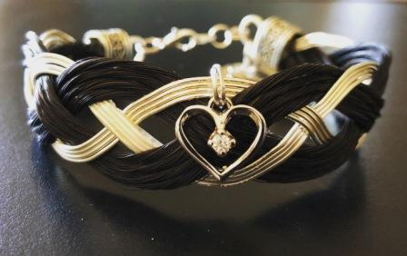 Entwined Heart Horse Hair Bracelet