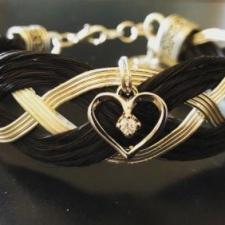 Entwined Heart Horse Hair Bracelet