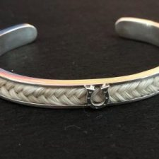 Sterling Silver Horseshoe Horse Hair Bracelet