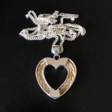 Heart Horsehair Pendant