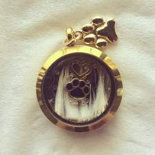 Gold Furbaby Locket