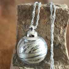 Screw Top Horsehair Pendant