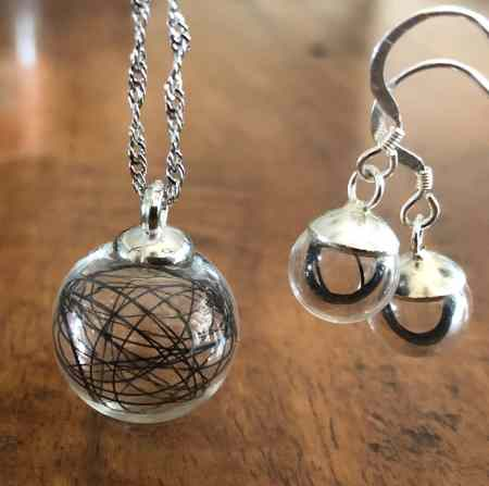 Glass Orb Horsehair Set