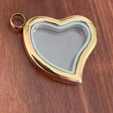 Gold Heart Ashes Pendant