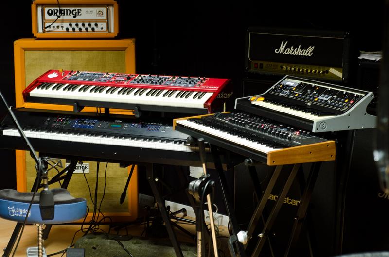 Keys in the studio