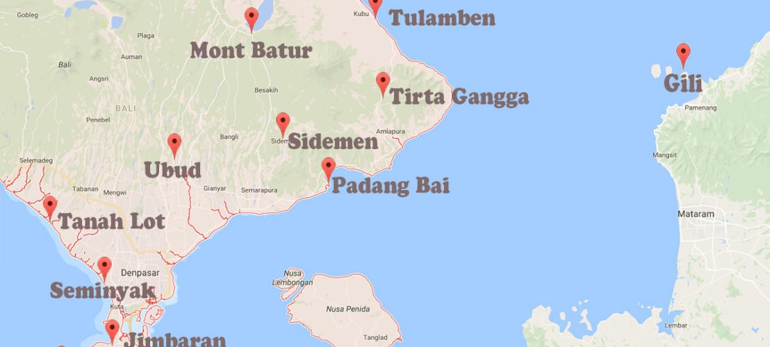 Itinéraire Bali