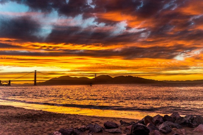 Photo de voyage coucher soleil san francisco