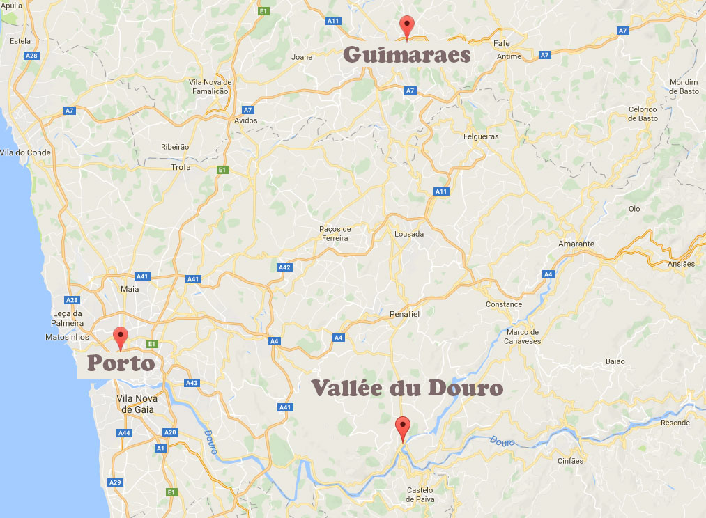 Guimaraes - les environs de Porto