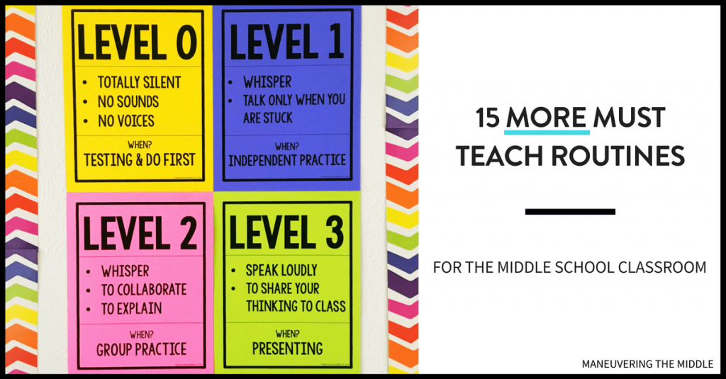 15 more middle school routines and procedures to keep your students on the right track and your classroom running smoothly. | maneuveringthemiddle.com