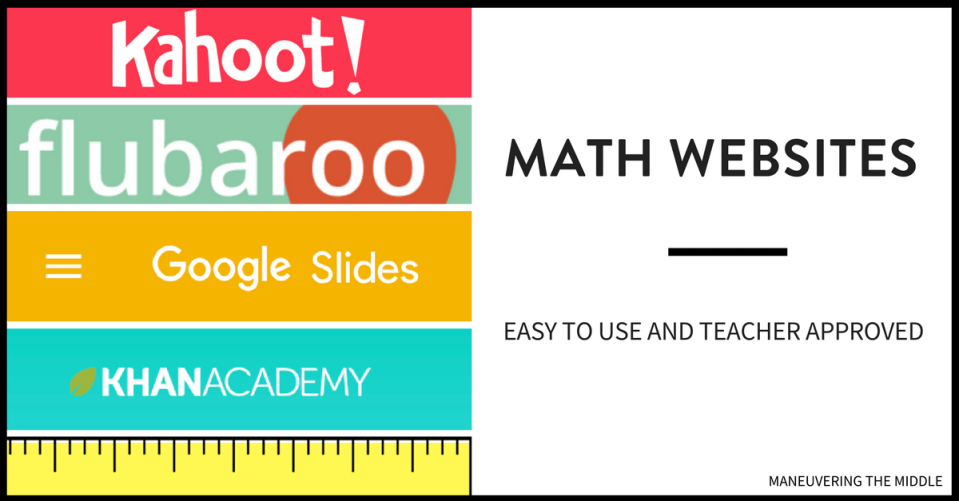 Engaging Websites For Middle School Math Maneuvering The