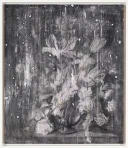 Untitled, 2008, pencil and gesso on paper on board, cm