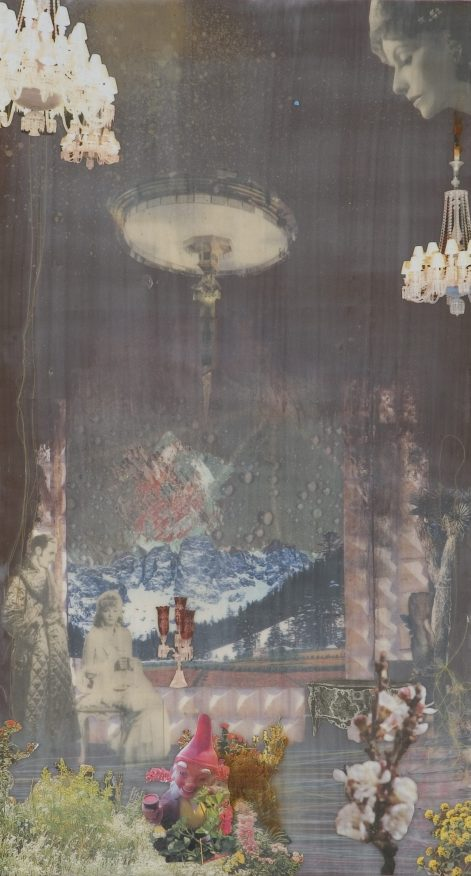 Untitled, 2005, collage on board, cm 33x60