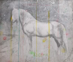 Untitled, 2001-2002, pencil, gesso and acrylic ink on paper on board, cm 143x120