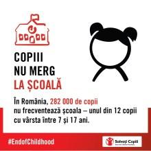 Infografic Salvati Copii - copii in afara scolii
