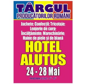 Târgul de Rusalii al Producătorilor Români se deschide Joi la Hotel Alutus!
