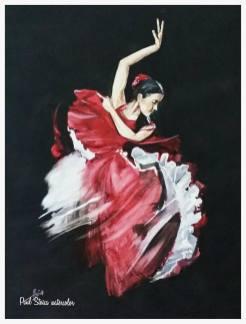 Paul_Stoica_Flamenco-acuarela