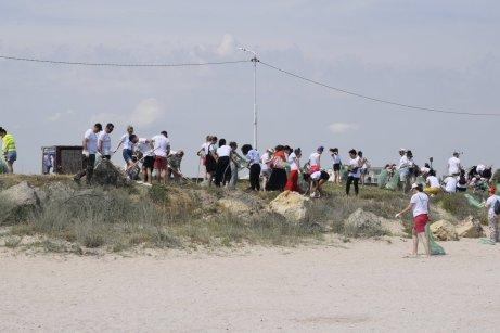 Mangalia campanie de igienizare pe plajă-11