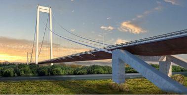 Podul suspendat peste Dunăre - Braila