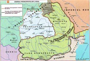 Harta Unirii Principatelor Române