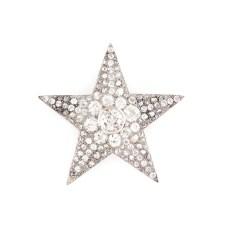 Excepțională broșă din aur alb și platină, ornată cu multitudine de diamante