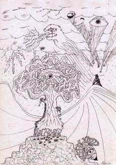 Cristian Paul Cosmiuc desene in tuș-09