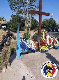 AMVVD Constanța ceremonie cinstirea memoriei militarilor decedați accident Tuzla2