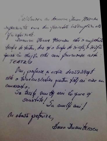 Dana Dumitrescu mesaj