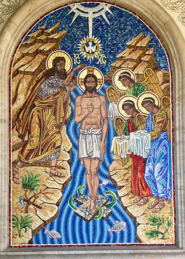 Valentin Tănase - Botezul Domnului - mozaic