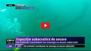 expozitie subacvatica de ancore