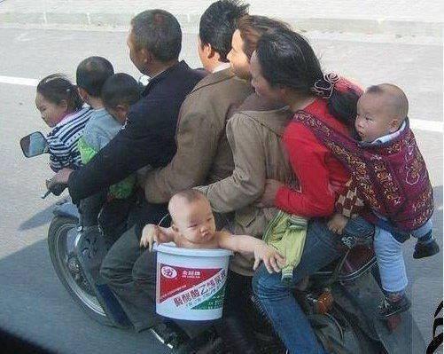 pe motocicleta