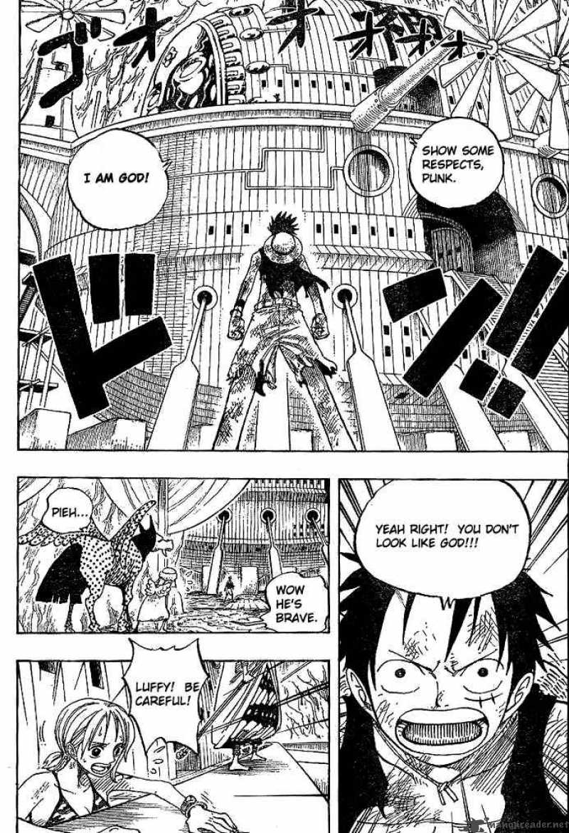 During the battle, enel realizes that he cannot hurt luffy because he is made of rubber. Read Manga One Piece Chapter 279 Pirate Luffy Vs God Eneru