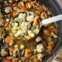 Escarole and Meatball Soup (aka Italian Wedding Soup)