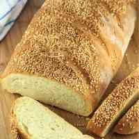 Semolina Bread with Sesame Seeds