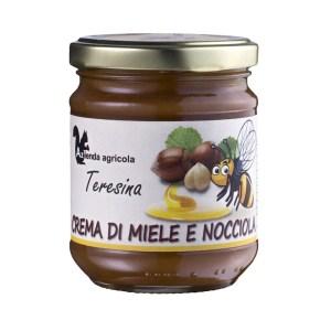 crema di miele e nocciole