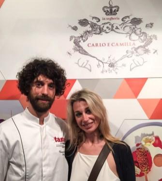 con chef Emanuele Pollini